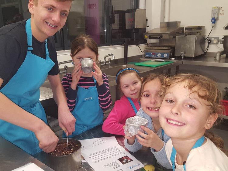 Haydn and children at Cooking Club